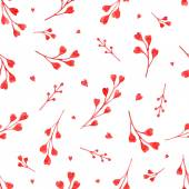 Watercolor red branches — Stock Vector