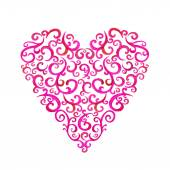 Lace silhouette heart — Stock vektor