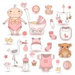 Baby girl shower — Stock Vector #52164747