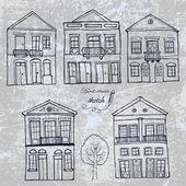 Küme evleri — Stok Vektör