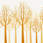 Trees background — Stock Vector