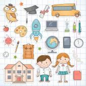 School items. — Stock Vector