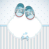 Baby boy shower card. — Stock Vector