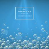 Background with bubbles — Stock Vector