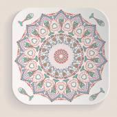 Ornamental element on the plate. — Stockvector