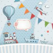 Holiday card design — Stock Vector