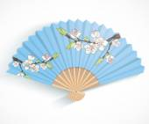 Folding fan. — Stock Vector