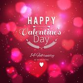 Happy Valentines Card — Stock Vector