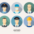 Profession people avatars — Stock Vector #66709691