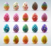 Conjunto de huevos realistas — Vector de stock