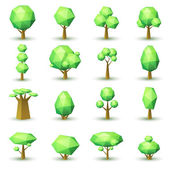 Set of geometrical trees. — Stock Vector