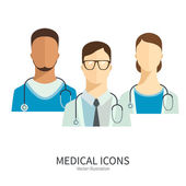 Doctors and medical staff. — Stock Vector