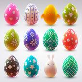 Set van realistische eieren — Stockvector