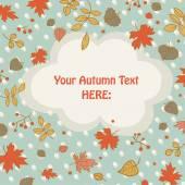 Autumn Leaves Card — Stock Vector