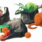 Plastic shopping bags — Stock Vector #69106929