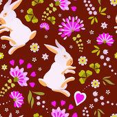 Easter Bunny Muster — Stockvektor