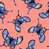 Summer Butterfly Wallpaper — Stock vektor