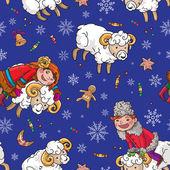 Folk Ukrainian Christmas Pattern — Stock Vector