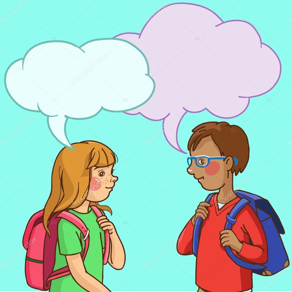 Children speaking