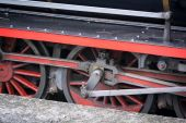 Wheels of a Vintage Steam Train — Stock Photo