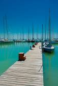 Sailboats In Port — Stock Photo