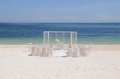 Wedding set up on the beach — Stock Photo