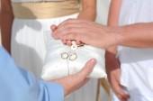 Wedding rings celebration — Foto Stock