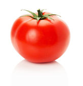 Ripe tomato isolated on the white background — Стоковое фото