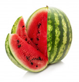 Watermelon with slice isolated on the white background — Foto de Stock