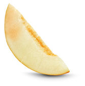 Slice of melon on the white background — Foto de Stock