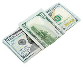 Denaro dollari isolato su sfondo bianco — Foto Stock
