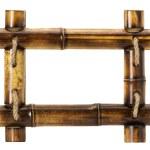 Bamboo frame isolated on white background — Stock Photo #56071317