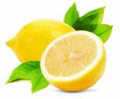 Juicy lemons isolated on the white background — Stock Photo