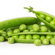 Green peas isolated on the white background — Stock Photo #58223733