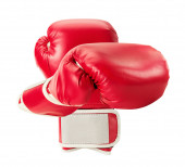 Boxing gloves isolated on the white background — Stock Photo