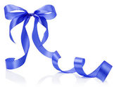 Blue bow isolated on the white background — Stock Photo