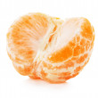 Juicy tangerine isolated on the white background — Stock Photo #59994885