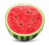 Polovinu melounu izolovaných na bílém pozadí — Stock fotografie