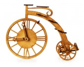 Wooden decorative bike isolated on the white background — Foto de Stock