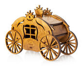 Wooden model of carriage isolated on white background — Stock Photo