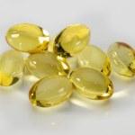 Close up of fish oil capsules — Stock Photo #67376947
