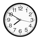 Wall clock isolated on the white background — 图库照片
