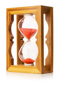 Wooden sand clock isolated on the white background — Stock Photo