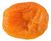 Dried apricot isolated on the white background — Stockfoto