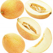 Set of melons isolated on the white background — Stock Photo #70290815