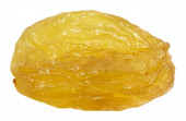 Single raisin isolated on the white background — Stockfoto