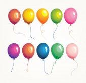 Palloncini colorati — Vettoriale Stock