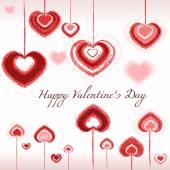 Valentines day - hearts, love, vector, brush — Stock Vector