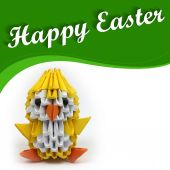 Happy Easter - chicken — Stock Photo