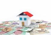 Czech money - house, home — Stock Photo